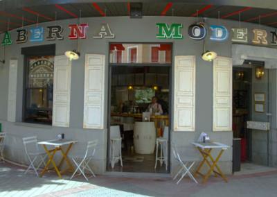 fachada taberna moderna